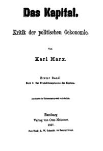 Das Kapital, Karl Marx, Titelseite