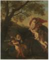 Karel Philips Spierincks - Putti Riding a Donkey in a Landscape.tiff