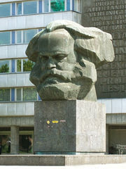 A Karl Marx monument in the German city Chemnitz, formerly the East German city Karl-Marx-Stadt (Karl Marx City).