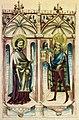 Karl der Grosse praesentiert St Bartholomaeus das Dommodell.jpg