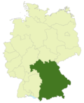 Map of Germany: Bavarian soccer association highlighted