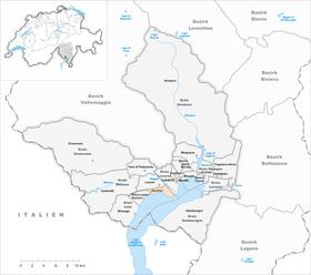 Mapa en Ascona