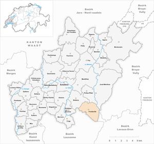 Froideville, Switzerland - Image: Karte Gemeinde Froideville 2013