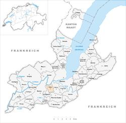 Lokasi onex di kanton genf