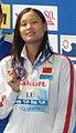 Kazan 2015 - Victory Ceremony 50m butterfly W (Lu Ying cropped).jpg