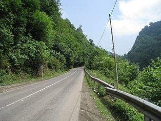 Kelardasht - Road from Kelardasht to Abbasabad.