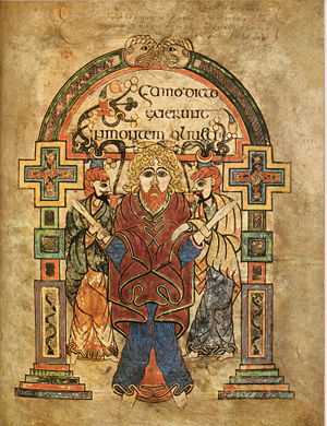 Arrest of Jesus - Image: Kells Fol 114r Arrest Of Christ