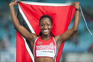 Trinidad and Tobago at the 2008 Summer Olympics - Kelly-Ann Baptiste, who participated for Trinidad and Tobago in Beijing