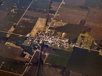 Kennard, Indiana - Kennard from the air, looking southwest.