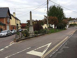 Kenton, Devon - Image: Kenton WWII monument