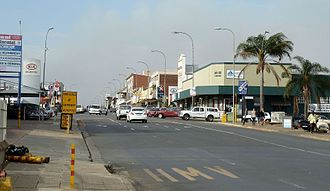 Vryheid - View of Church Street in Vryheid's Commercial District.