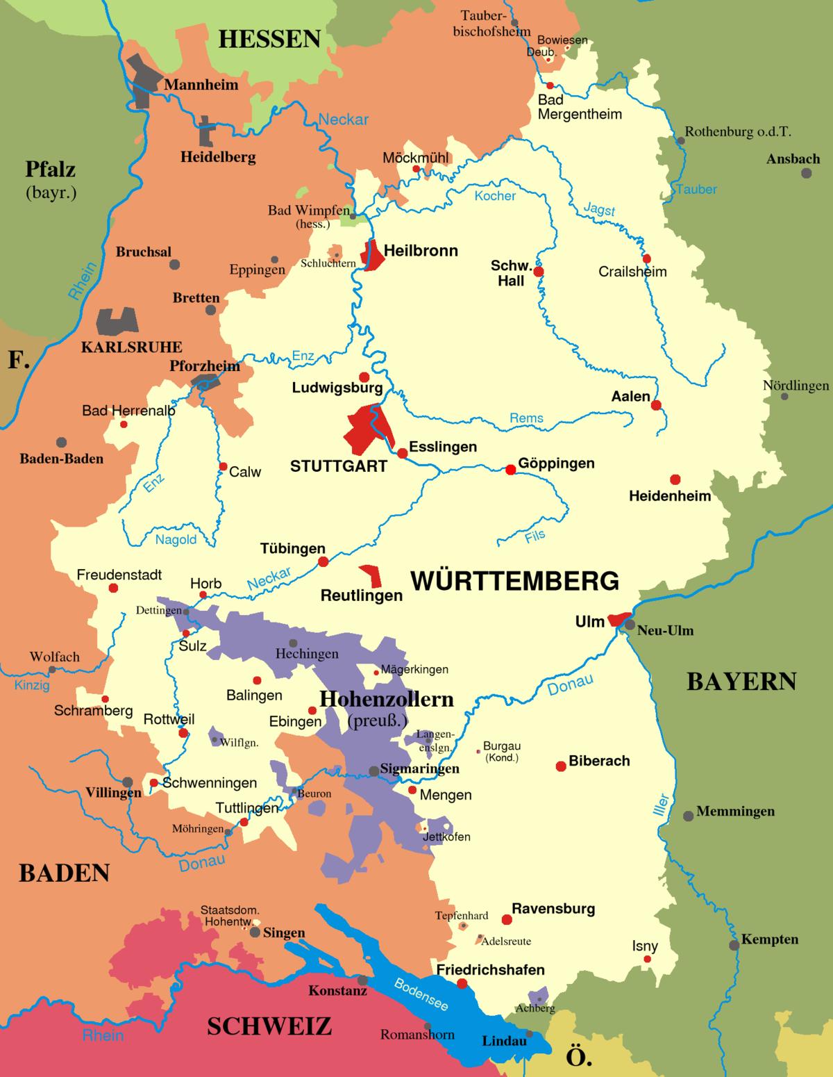 württemberg karte Württemberg – Wikipedia württemberg karte