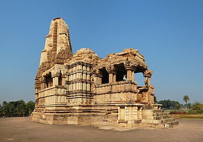 Duladeo Temple is a temple in the Khajuraho Group of Monuments in India. Built sometime between 1000 and 1150, it is dedicated to Lord Shiva.