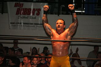 Kid Kash - Kash wrestling at an independent event in May 2012