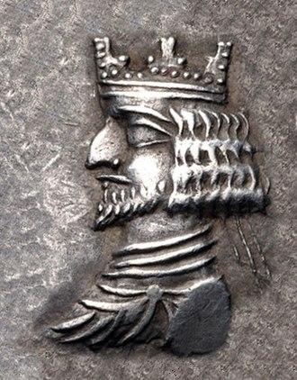 Kings of Persis - King of Persis Ardashir II with crown, 1st century BCE.
