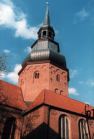 Vincent Lübeck - The tower of St. Cosmae, Stade, where Lübeck worked for 18 years from 1675 to 1702.
