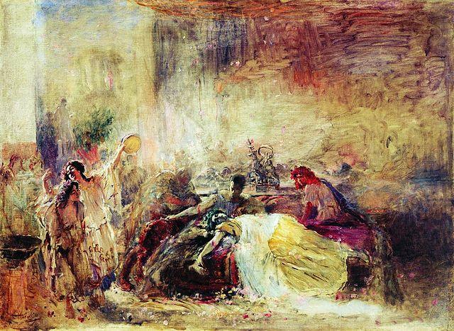 «Смерть Петрония». Маковский К. Е. 1904