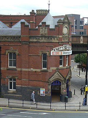 Deansgate railway station - Image: Knott Mill Station geograph.org.uk 1447337