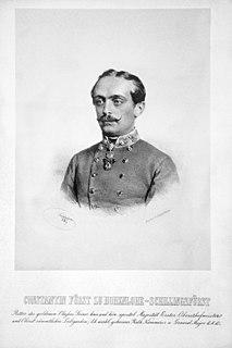 Konstantin of Hohenlohe-Schillingsfürst Austrian officer