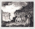 Konung Ingjald Illråda bränner upp 6 Fylkiskonungar by Hugo Hamilton.jpg
