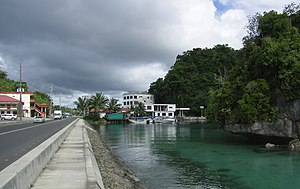 Koror - Typical weather scene in Koror