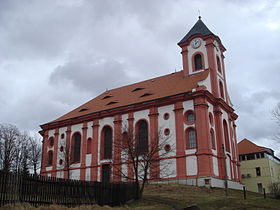 Chodov : église Saint-Laurent.