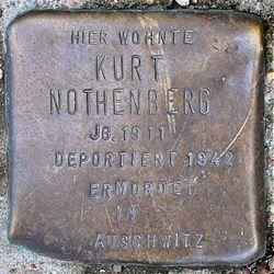 Photo of Kurt Nothenberg brass plaque