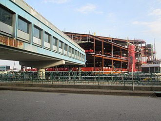 LaGuardia Airport - Construction at Terminal B, seen in April 2018