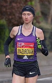 Volha Mazuronak Belarusian long-distance runner