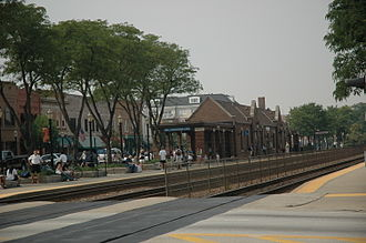 La Grange, Illinois - Metra train stop on the BNSF Railway Line