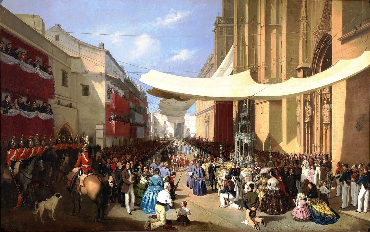 Шествие Тела Христова в Севилье, автор Мануэль Кабрал (Museo del Prado) .jpg