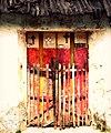 La puerta, la reja y las cruces - Valladolid, Yucatán.jpg