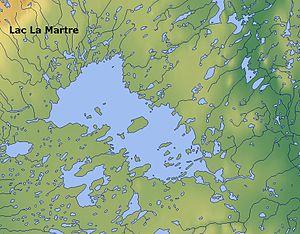 Lac La Martre - Map