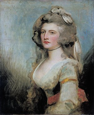 Sarah Curran - Lady Sarah Curran, by George Romney