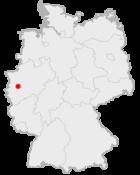 Lage der kreisfreien Stadt Düsseldorf in Deutschland