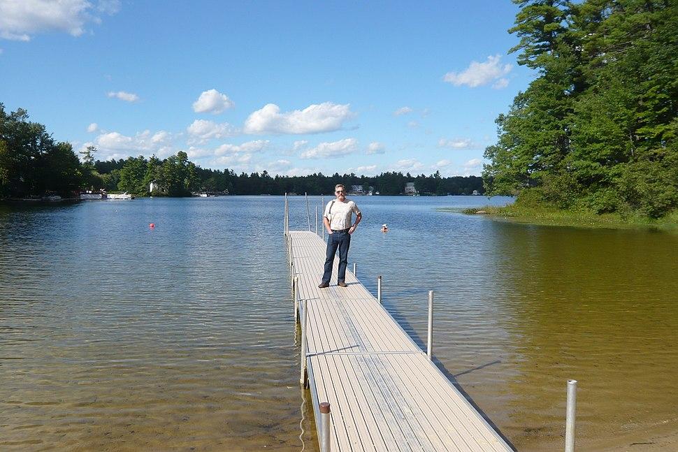 Lake Baboosic public beach and dock