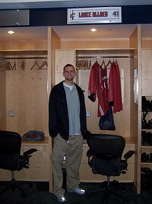 Lance Allred - Allred in the Cleveland Cavaliers locker room