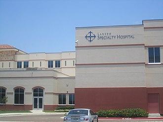 Laredo metropolitan area - Laredo Specialty Hospital, near the Laredo Medical Center, handles certain patients requiring long-term care.