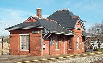 Laurel station (MARC) - Laurel Railroad Station, December 2008
