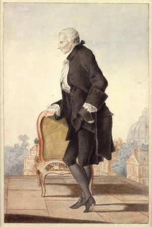 Louis Carrogis Carmontelle - Carmontelle's watercolour (c. 1762) of Laurence Sterne