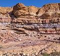 Layers of sedimentary rock in Makhtesh Ramon (50752).jpg