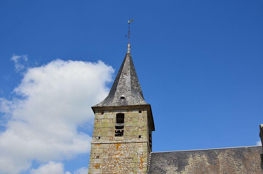 Clocher de l'église Notre-Dame de Le Mesnil-Benoist.