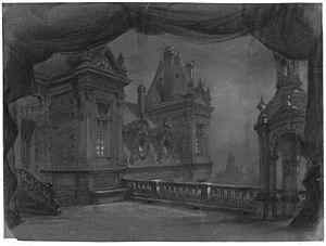 Le roi l'a dit - Set design by Charles-Antoine Cambon