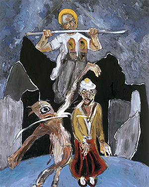 "Michael Hafftka - ""Leap of Faith,"" o/c, 78 x 62 in. (198 x 157.5 cm), by Michael Hafftka, 1998"