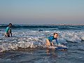 Learning to surf with Ocean Adventures, Durban beach front. KwaZulu Natal, South Africa (20512962905).jpg