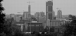 Golden Triangle (Yorkshire) - The city centre of Leeds, where much of the supposed wealth is attributable from.
