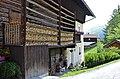 Lesachtal Sankt Lorenzen Bauernhaus Brennholzlager 12062014 481.jpg