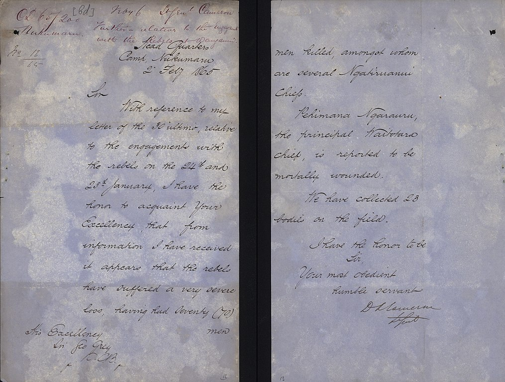 FileLetter From Lieutenant General Duncan Cameron To