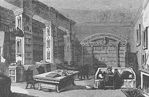 Richard Lovell Edgeworth - Library at Edgeworthstown House 1888