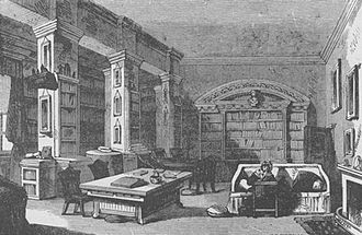 Richard Lovell Edgeworth - Library at Edgeworthstown House 1888